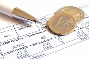 Übersicht einer Stromrechnung